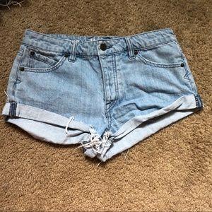 High waisted denim shorts Volcom brand